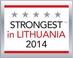 Stipriausi Lietuvoje 2014 sertifikatas
